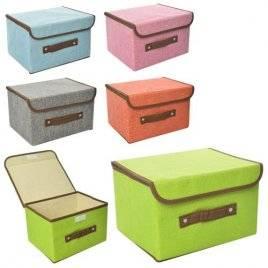 Ящик для игрушек и вещей Органайзер на липучке, с крышкой и ручкой 5759