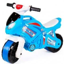 Мотоцикл байк с музыкальными и световыми эффектами голубой полиция 5781ТехноК