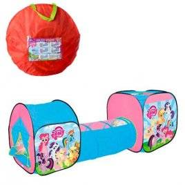 Палатка детская с тоннелем My Little Pony M 5794 LP в сумке