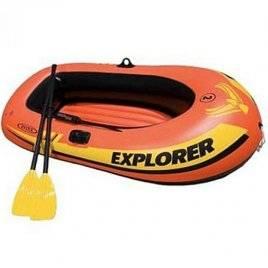 Лодка EXPLORER +вёсла и насос 58331 Intex