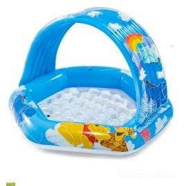 Бассейн с навесом детский надувной  Винни Пух 58415 Intex