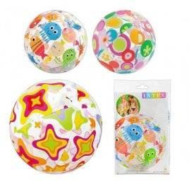 Мяч для бассейна разноцветный надувной 51 см 59040 Intex