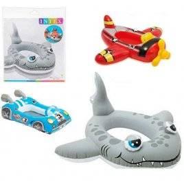 Детский надувной плотик - лодочка для плавания 59380 Intex