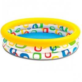 Бассейн детский надувной геометрические фигуры 3 кольца 59419 Intex