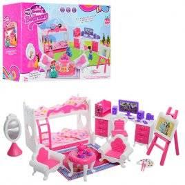 Мебель для кукол с двухъярусной кроватью 5988-2