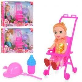 Мини кукла с коляской и шлемом 600-127
