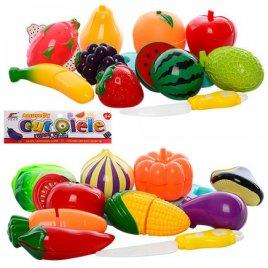 Продукты на липучках Овощи и фрукты Как настоящие 6015-6 в кульке