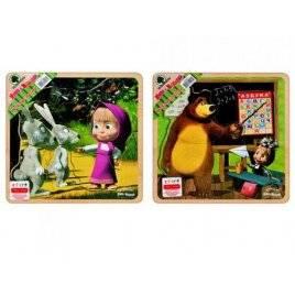 Пазлы деревянные Маша и медведь GT6018