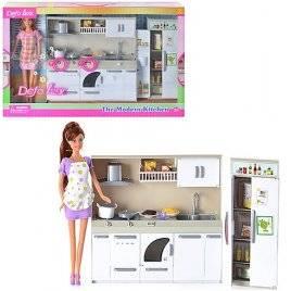 Мебель для  куклы Кухня   с куклой DEFA 6085