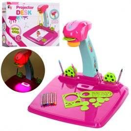 Проектор со слайдами розовый настольный 628-30A