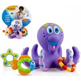 Игрушка для купания Осьминог с морскими животными HS6301
