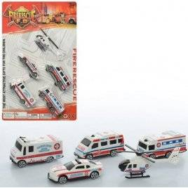 Машинки Амбулатория игровой набор 5 штук 631-7