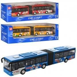 Автобус металлический инерционный с резиновыми колесами 3 цвета 632-30-32-34