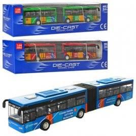 Автобус металлический  с резиновыми колесами 3 цвета 632-32