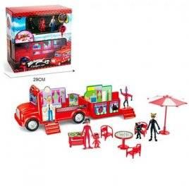 Набор игровой автобус-домик с мебелью Леди баг и суперкот PC-639 LDC