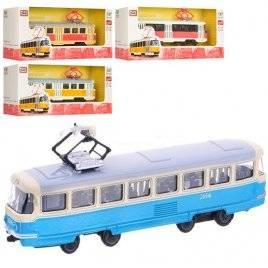 Трамвай металлический 6411ABCD средний