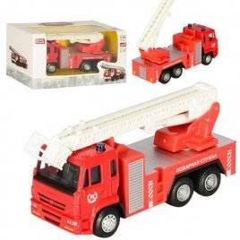 Металлический детский автомобиль Пожарная машина инерционный 6514ABCD
