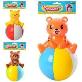 Неваляшка Животные на мячике 6526-B-С
