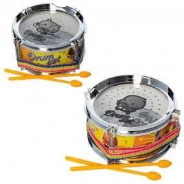 Барабан пластиковый 12 см+ палочки 2 штуки 660-1