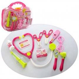 Набор доктора 12 предметов в розовом чемодане 660-27