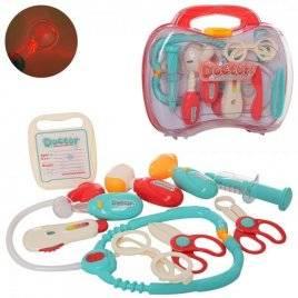 Детский набор доктора в чемоданчике со световыми эффектами 660-69-70