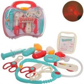 Набор доктора в красном чемодане 660-69-70 со световыми эффектами