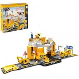 Гараж игрушка Стройтехника 36 деталей 660-A79