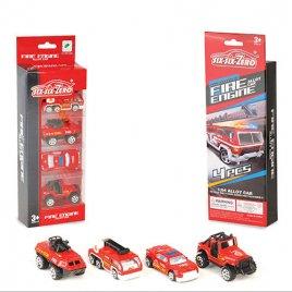 Набор машинок 4 штуки Пожарные 660-A132