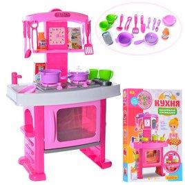 УЦЕНКА! Кухня детская розовая музыкальная 661-51. Мятая упаковка