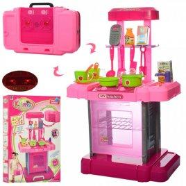 Кухня-трансформер для девочки в чемодане с музыкой и светом 661-60