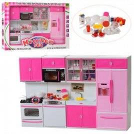 Кухня  для кукол с посудкой и  продуктами со звуком и светом 6612-27
