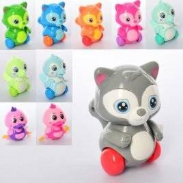 Заводная игрушка животное ездит  подвижные детали 6631-32-34