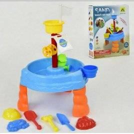 Столик-песочница для игры с песком и водой с аксессуарами HG 664