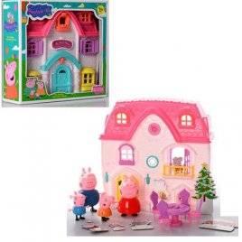 Дом и набор фигурок Свинка Пеппа с мебелью 666-001-1