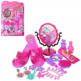 Набор аксессуаров для девочки туфли, зеркало, расческа L666-10