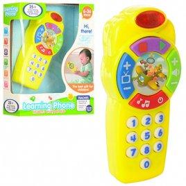 Пульт для детей игрушка на английском Изучаем цифры 666-B желтый
