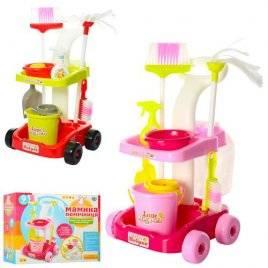 Набор для уборки с тележкой 667-33-35 розовый или красный