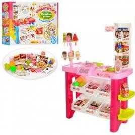 Магазин  игрушечный с продуктами и полочками 668-19-21