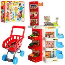 Магазин детский Супермаркет с кассой и тележкой 668-20