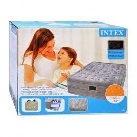 Кровать надувная велюровая со встроенным насосом Люкс 66958 Intex