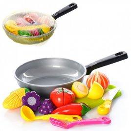 Сковородка и продукты на липучке 685