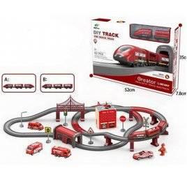 Железная дорога  пожарная локомотив + транспорт AU6883AB