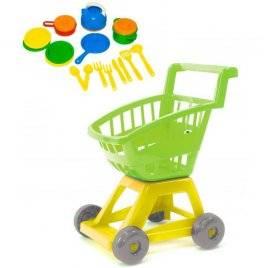 Детская тележка Супермаркет с посудкой 693 в.2 Орион