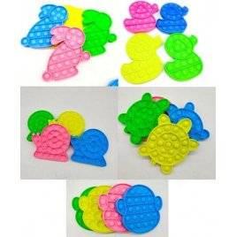 Антистресс разноцветный зверушки Поп ит Pop it 6931-2-3-5-6