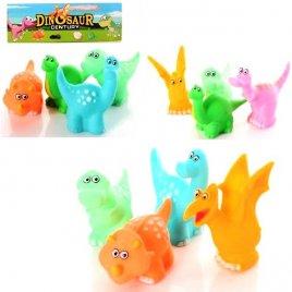 Пищалки игрушки для купания Динозаврики 4 штуки 698-D1-2