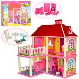 Домик для кукол Барби 2 этажа и 2 терассы 6980