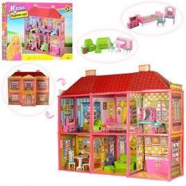 Домик  для кукол Барби 6 комнат с мебелью 6983