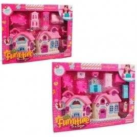 Домик с мебелью + кукла 699-2-3