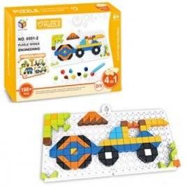 Мозаика  4 в1 стройтехника + инструмент 198 деталей 6991-2