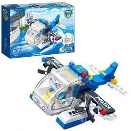 Конструктор Авиа самолет бело-голубой 112 деталей 7009